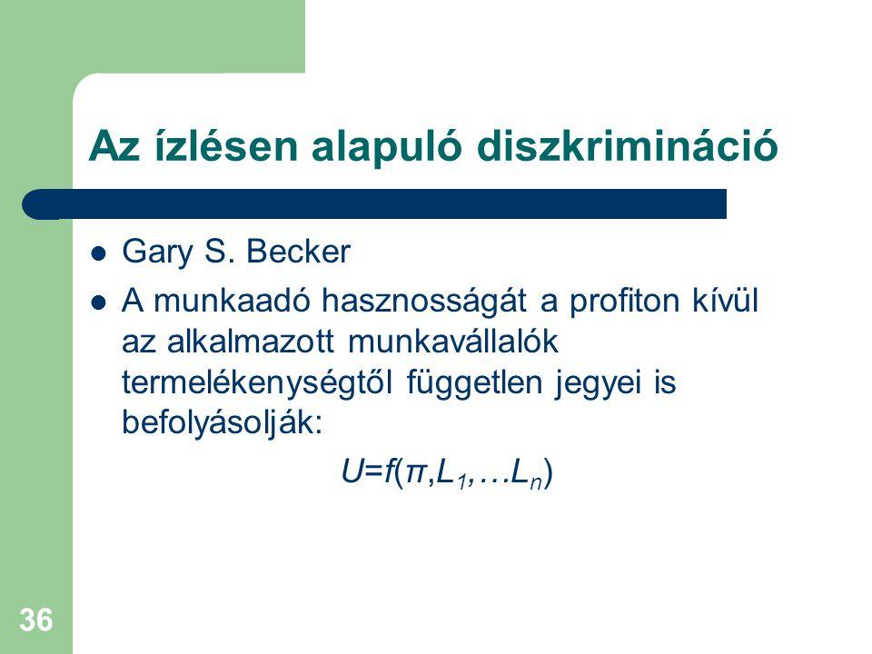 36 Az ízlésen alapuló diszkrimináció Gary S.