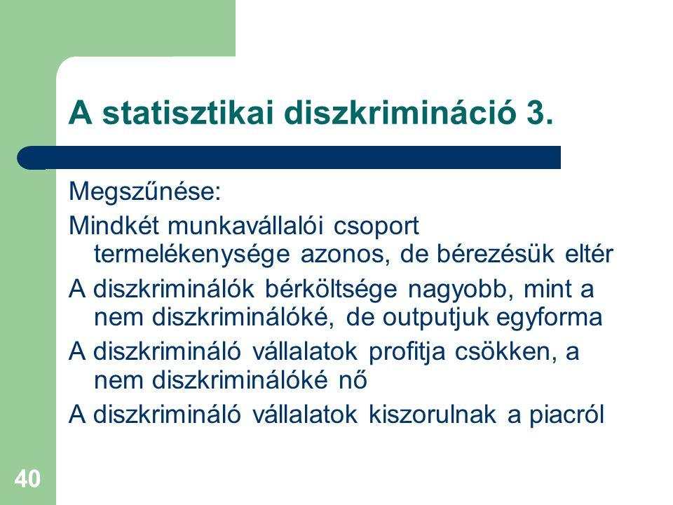 40 A statisztikai diszkrimináció 3.