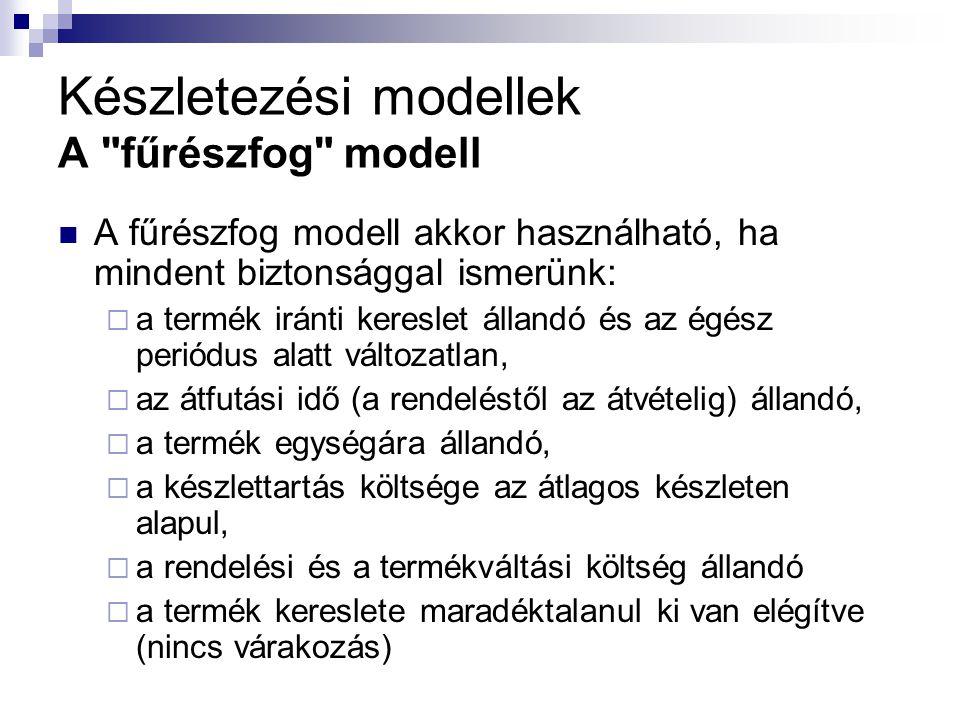 Készletezési modellek A
