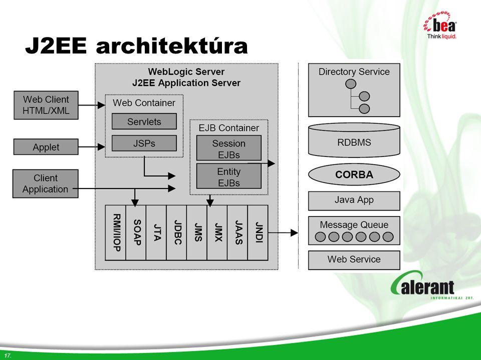 17. J2EE architektúra