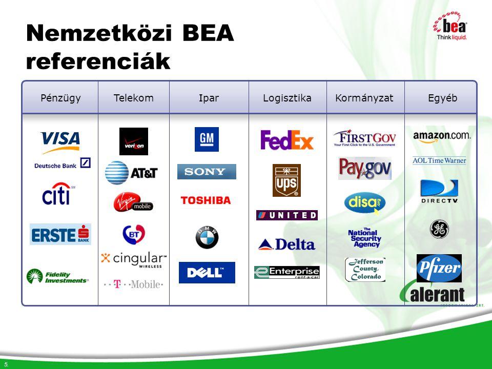 6. Hazai BEA referenciák PénzügyTelekomIparLogisztikaKormányzatEgyéb