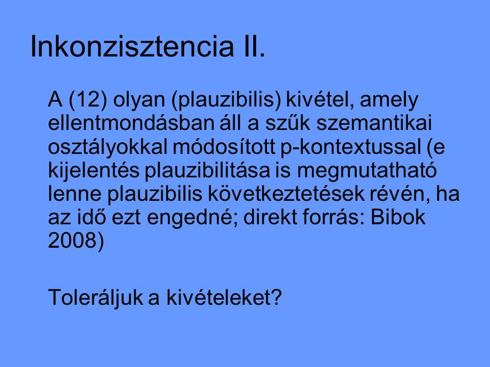 Inkonzisztencia II.