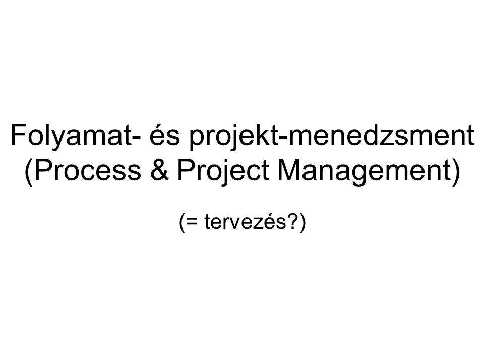 Folyamat- és projekt-menedzsment (Process & Project Management) (= tervezés?)