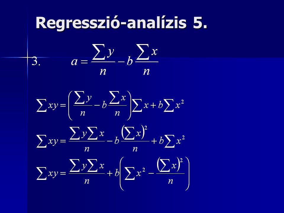 Regresszió-analízis 5.