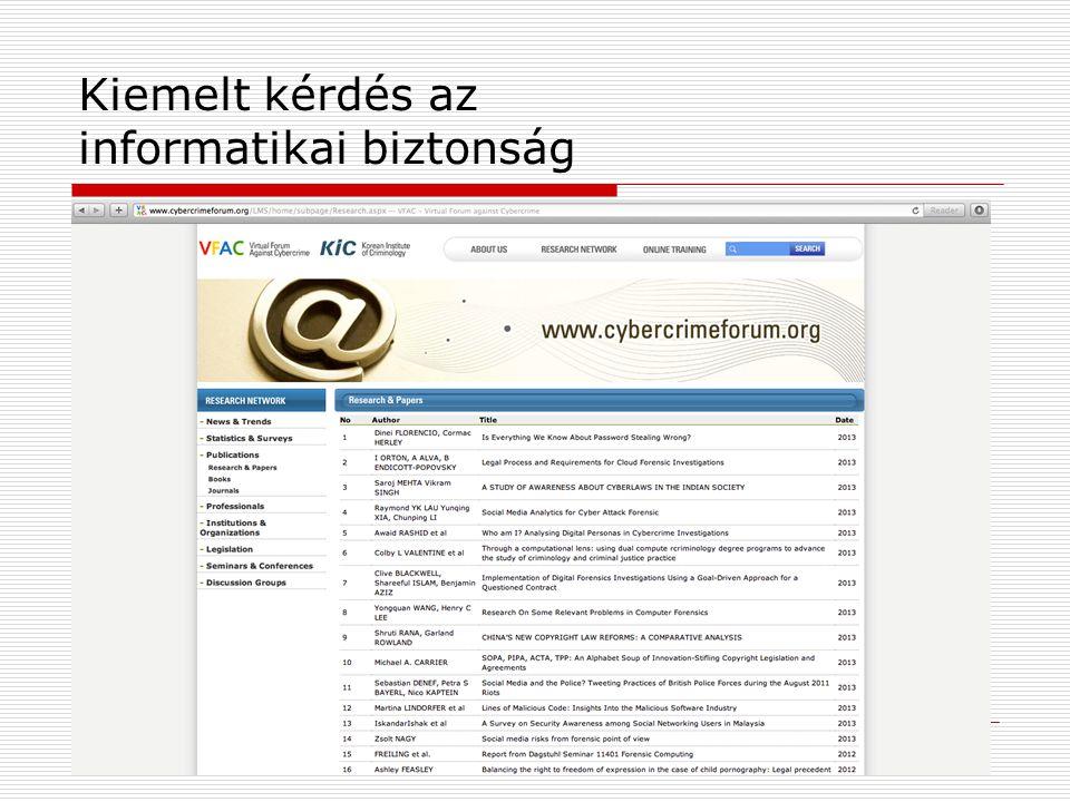Kiemelt kérdés az informatikai biztonság