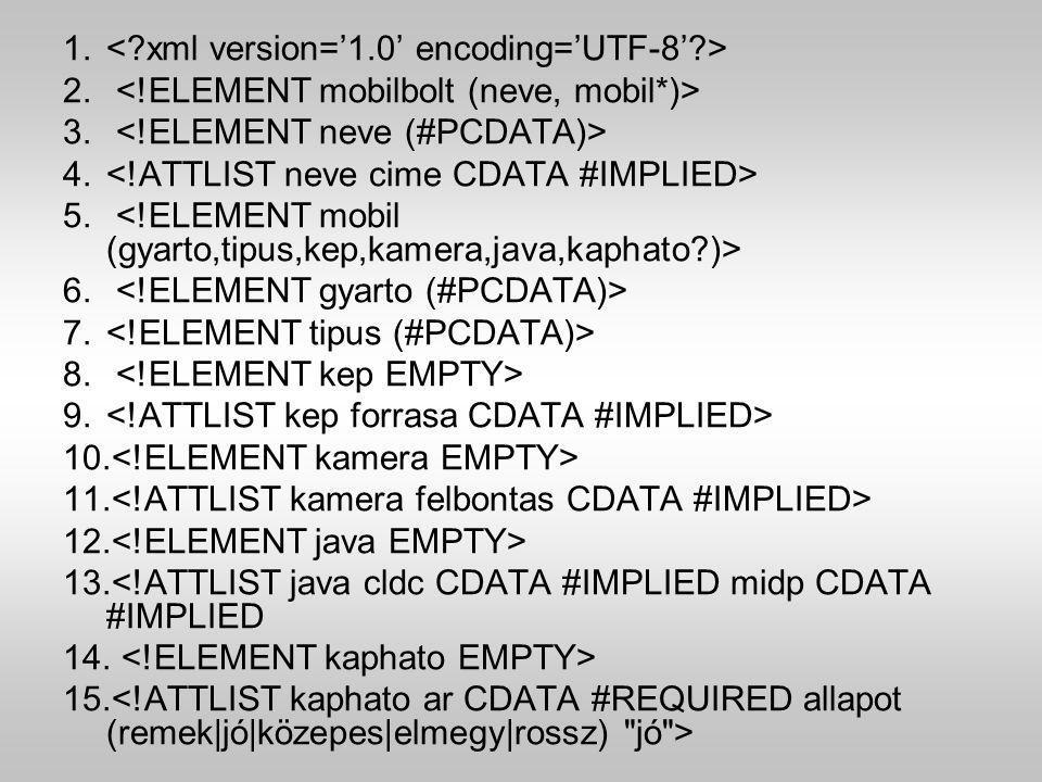 1. 2. 3. 4. 5. 6. 7. 8. 9. 10. 11. 12. 13.<!ATTLIST java cldc CDATA #IMPLIED midp CDATA #IMPLIED 14. 15.