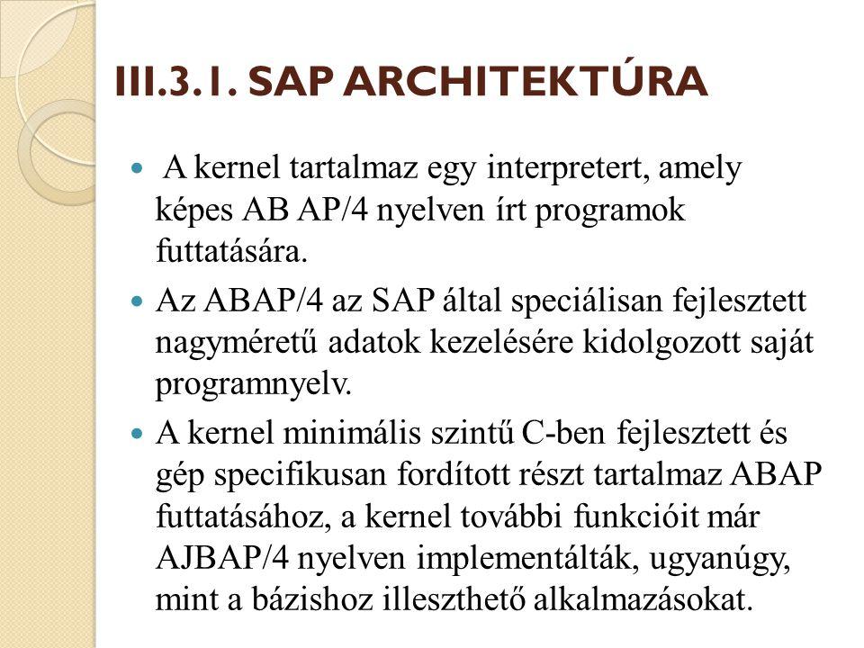 B) ABAP Workbench Az ABAP Workbench egy ABAP/4 fejlesztést célzó csomag, fejlesztési környezet.