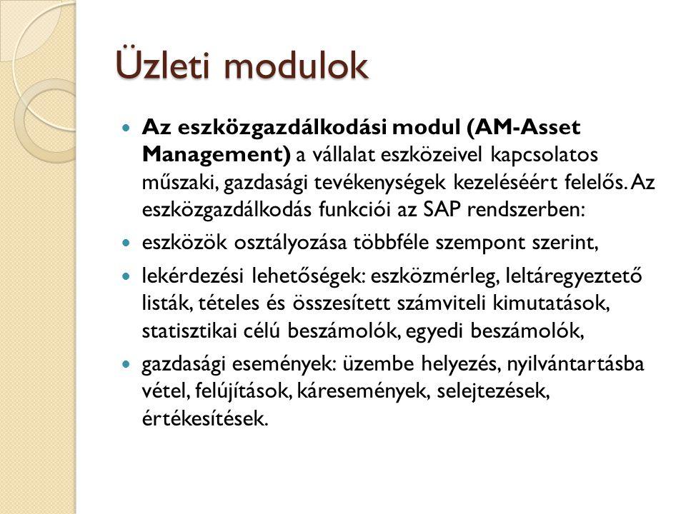 Üzleti modulok Az emberi erőforrás modul (HR- Human Resources) tartalmazza a munkaerő-gazdálkodással kapcsolatos feladatok ellátási funkcióit.