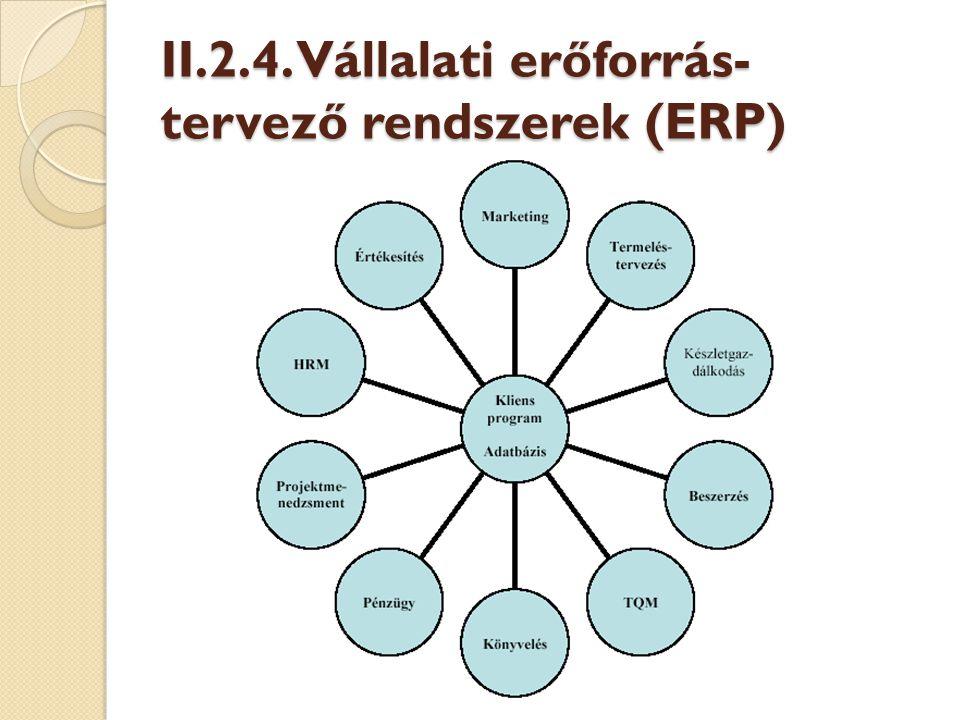 Az SAP ERP rendszere