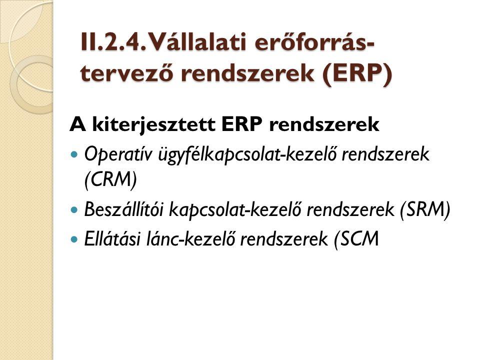 Operatív ügyfélkapcsolat-kezelő rendszerek (CRM) A CRM rendszerek feladatai a következők [Hetyei, 2002]: standard marketing folyamatok kialakítása marketingkampányok lebonyolítása, nyomon követése az értékesítési folyamat támogatása automatizált ügyfélkapcsolati folyamatok végrehajtása az ügyfélszolgálat támogatása az ügyfélkapcsolat különféle csatornáinak az összehangolása