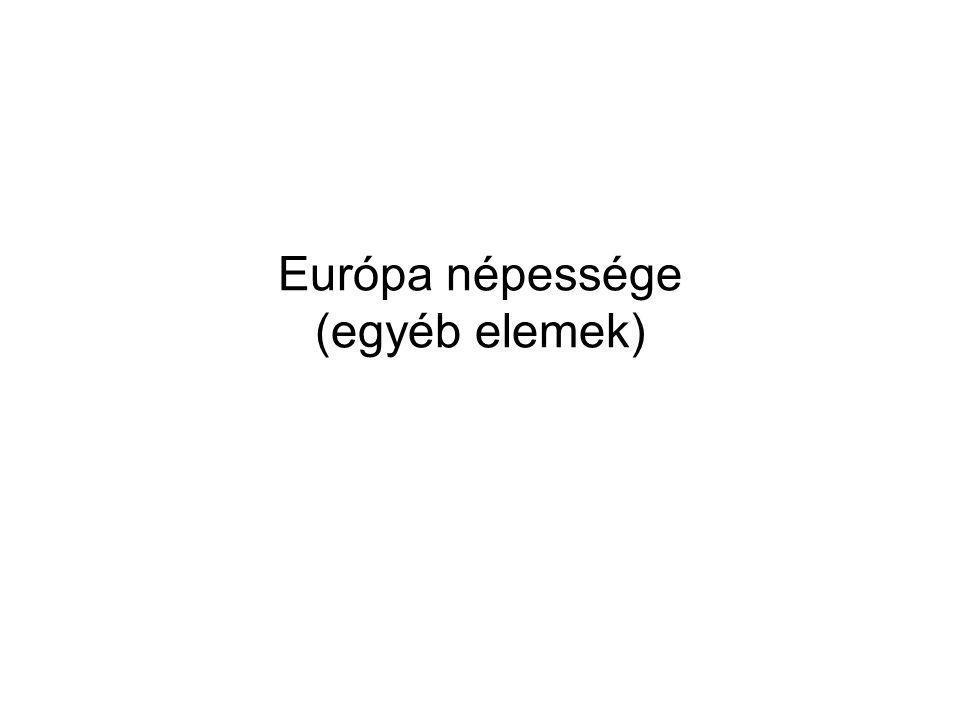 Európa népessége (egyéb elemek)