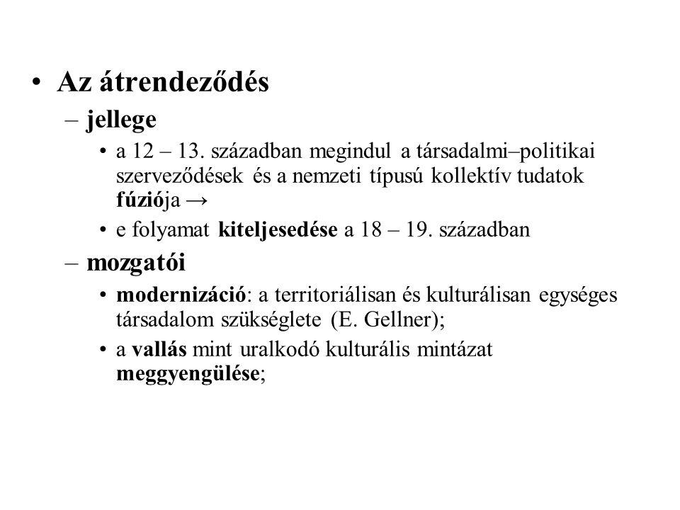 Az átrendeződés –jellege a 12 – 13.