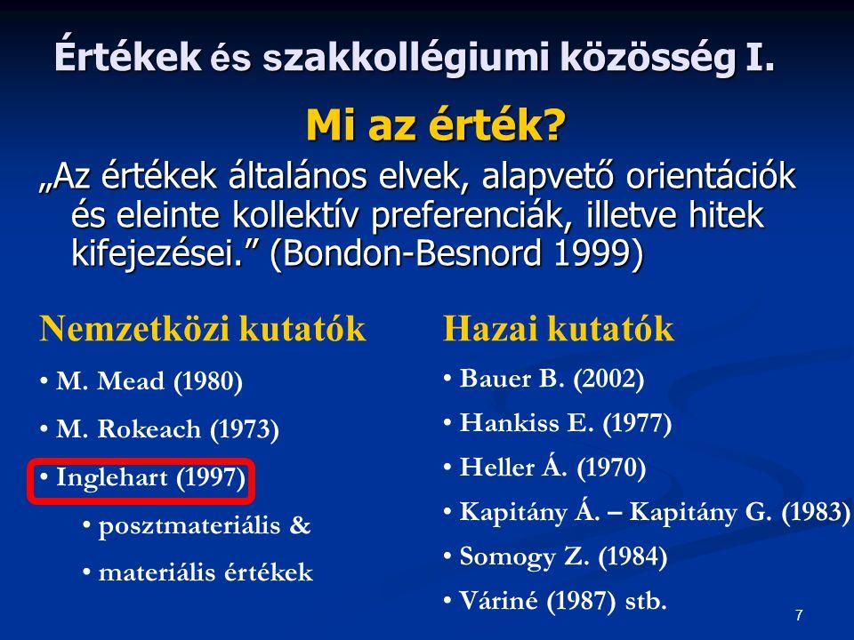 8 Értékek és s zakkollégiumi közösség II.
