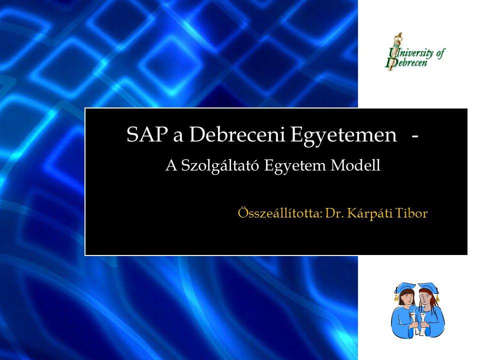 THE BEST-RUN UNIVERSITIES RUN SAP Összesített feladás hallgatói befizetésekről Neptun  SAP interfész