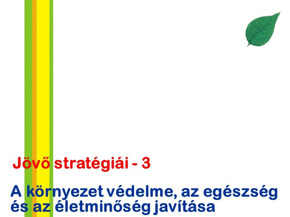 A környezet védelme, az egészség és az életmin ő ség javítása Jöv ő stratégiái - 3