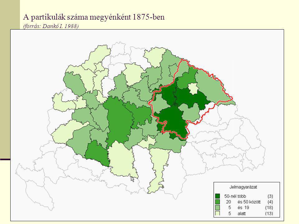 Debrecen gimnáziumainak összevont vonzáskörzete (forrás: Dobány Z. 2009)