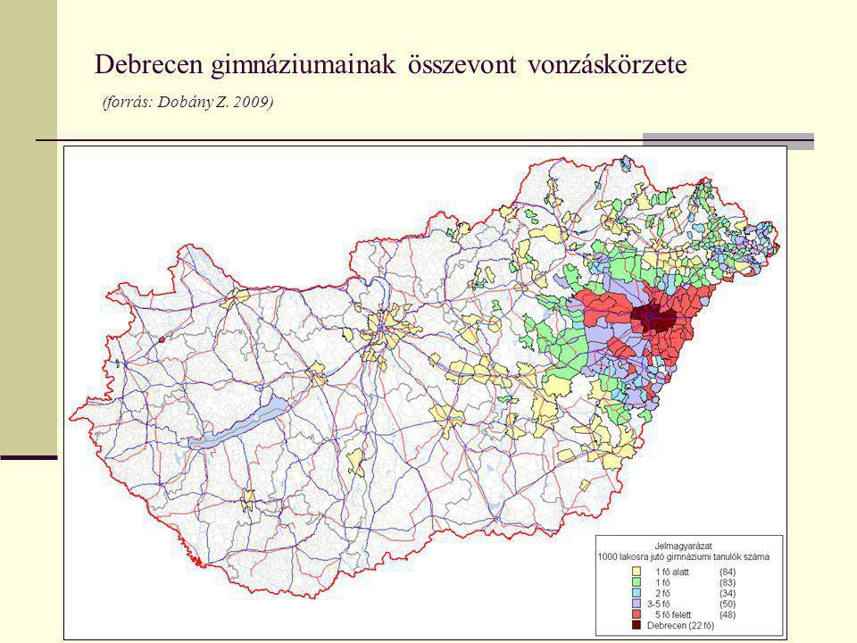 A cigány lakosság becsült lélekszáma (forrás: 2001, 2002-es Népszámlálások felső becsléssel)