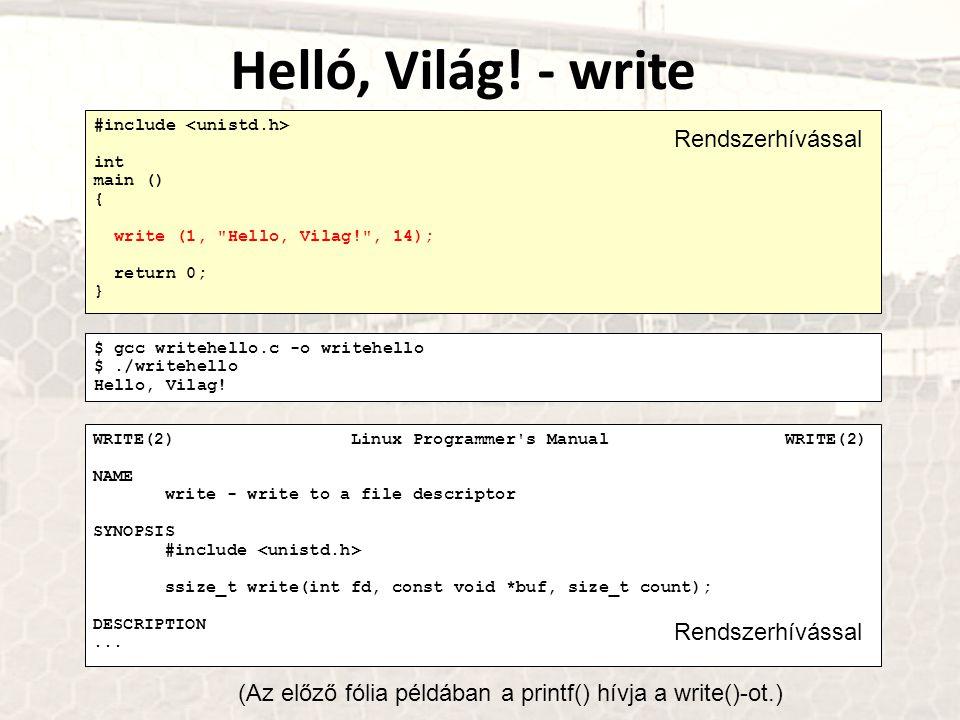 #include int main () { write (1,