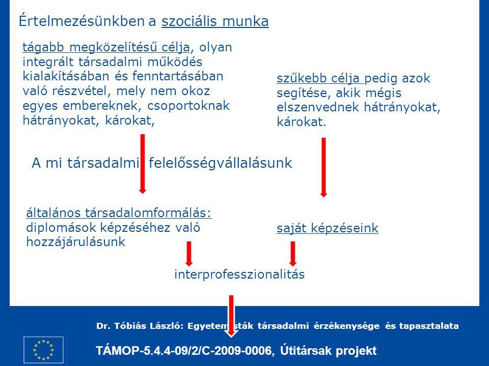 TÁMOP-5.4.4-09/2/C-2009-0006, Útitársak projekt Dr.