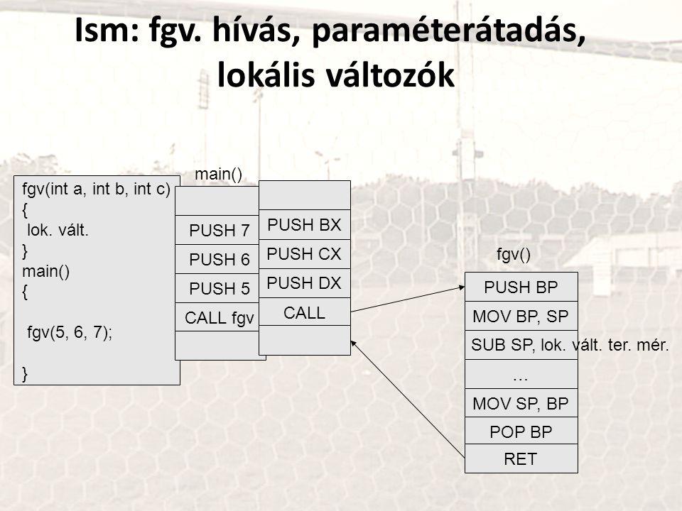 fgv(int a, int b, int c) { lok.vált.
