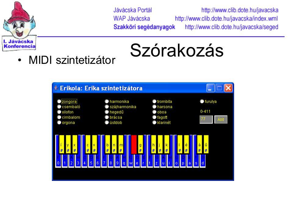 Szórakozás MIDI szintetizátor