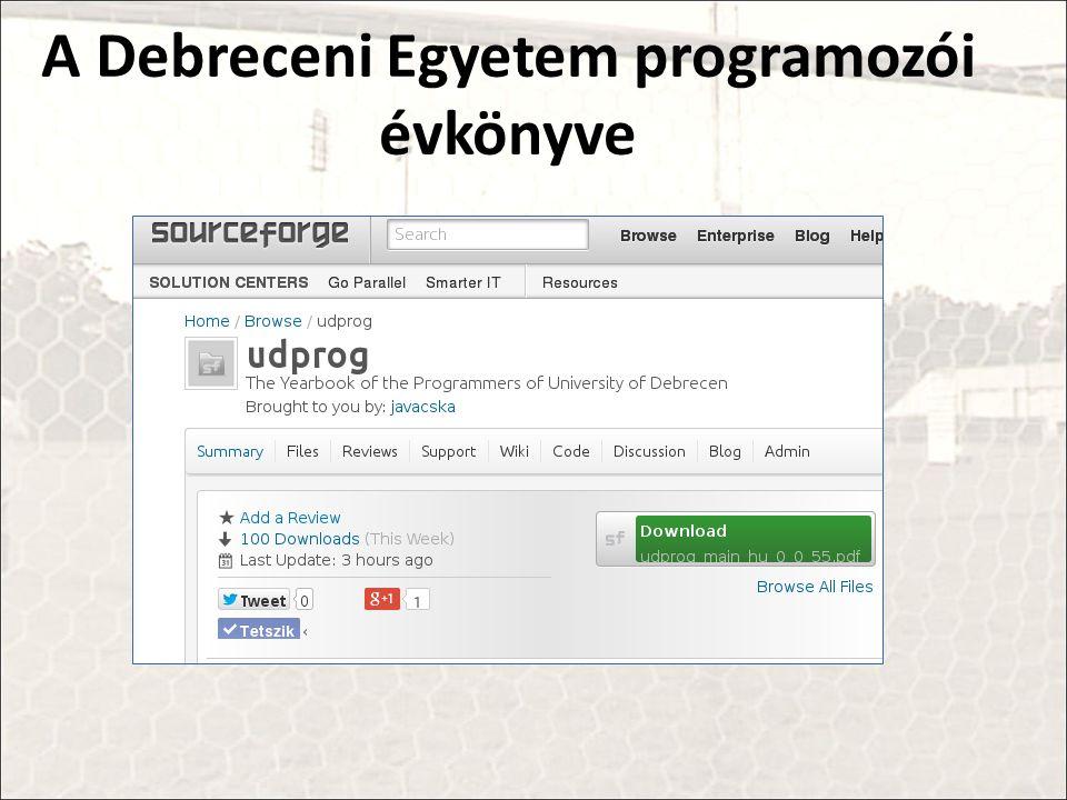 A Debreceni Egyetem programozói évkönyve