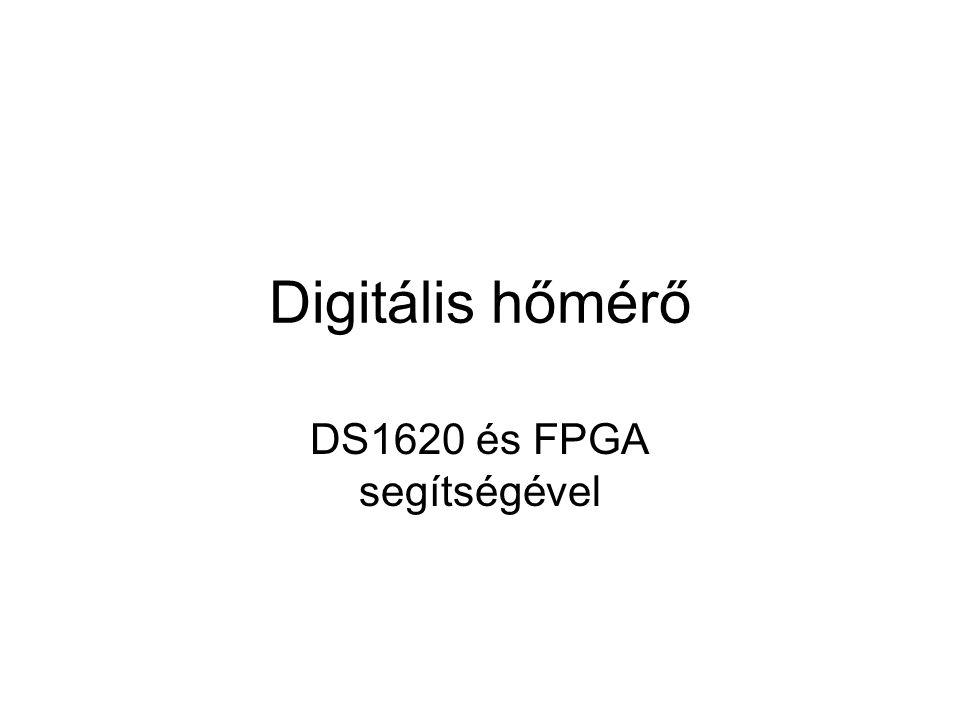 Digitális hőmérő DS1620 és FPGA segítségével