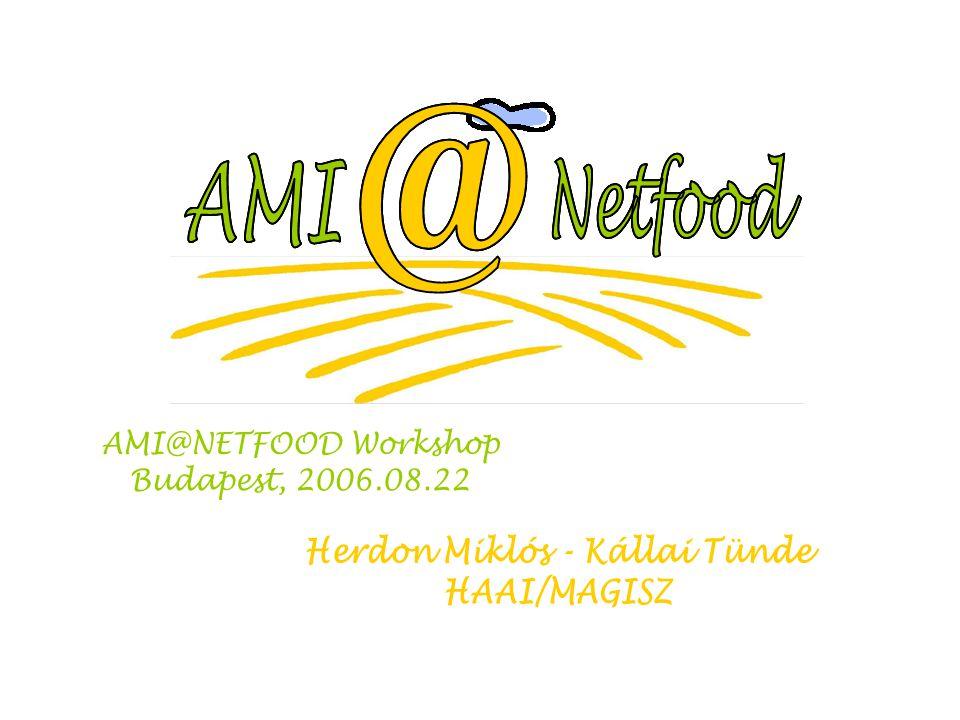 Slide 2 1.A workshop céljának ismertetése 2.A résztvevők bemutatkozása 3.Az AMI@Netfood projekt ismertetése, célok és eredmények 4.A kihívások megvitatása 5.K+F területek megvitatása 6.Végső következtetések, további tevékenységek Program
