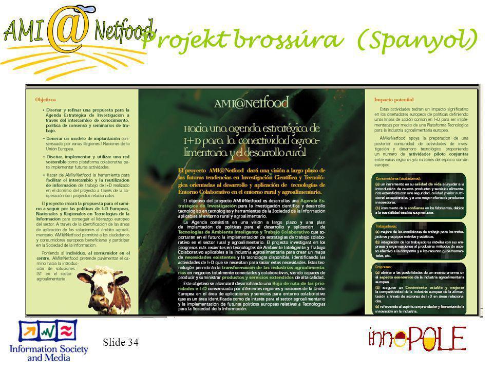 Slide 34 Projekt brossúra (Spanyol)