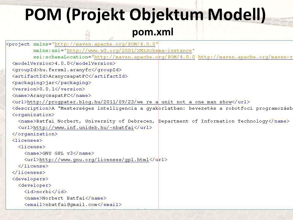 POM (Projekt Objektum Modell) pom.xml