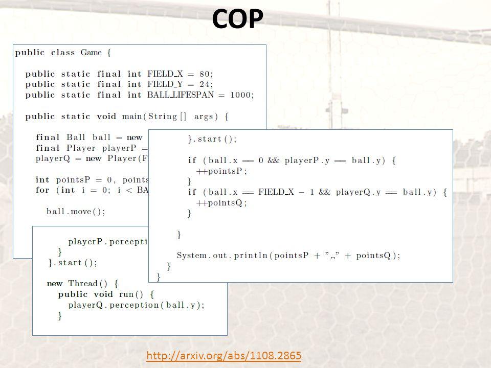 COP http://arxiv.org/abs/1108.2865