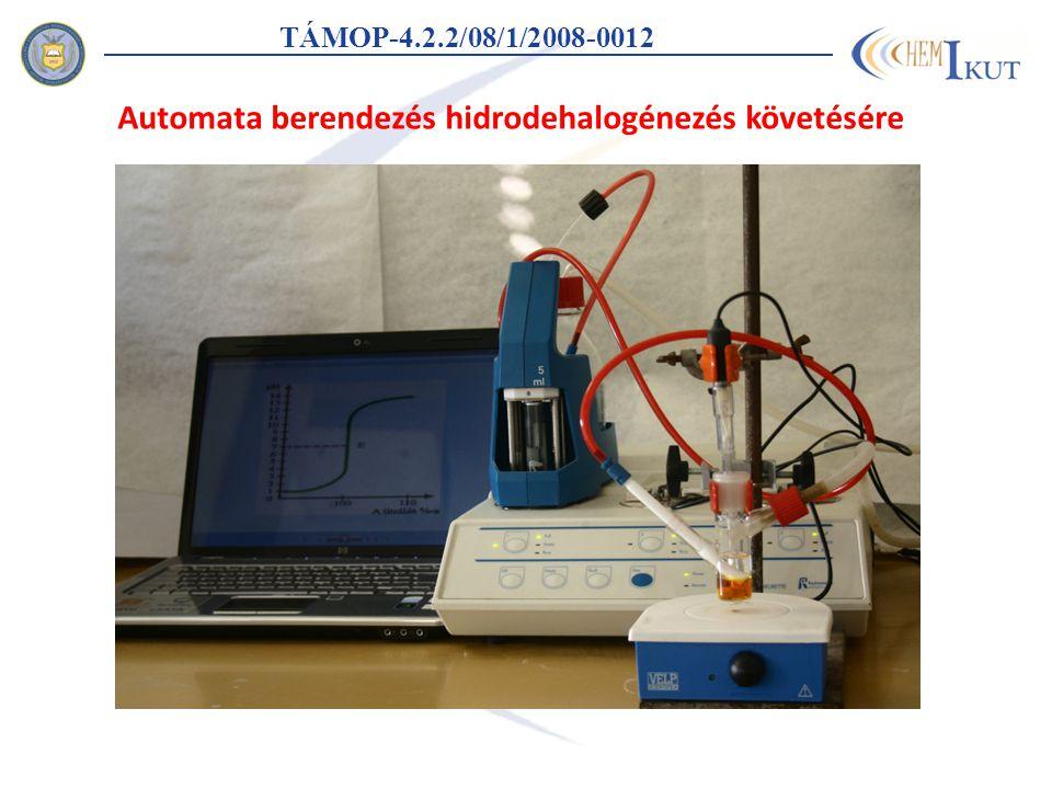 Automata berendezés hidrodehalogénezés követésére