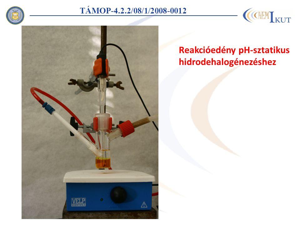 TÁMOP-4.2.2/08/1/2008-0012 Reakcióedény pH-sztatikus hidrodehalogénezéshez