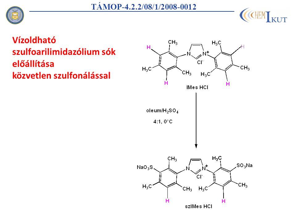 TÁMOP-4.2.2/08/1/2008-0012 Vízoldható szulfoarilimidazólium sók előállítása közvetlen szulfonálással
