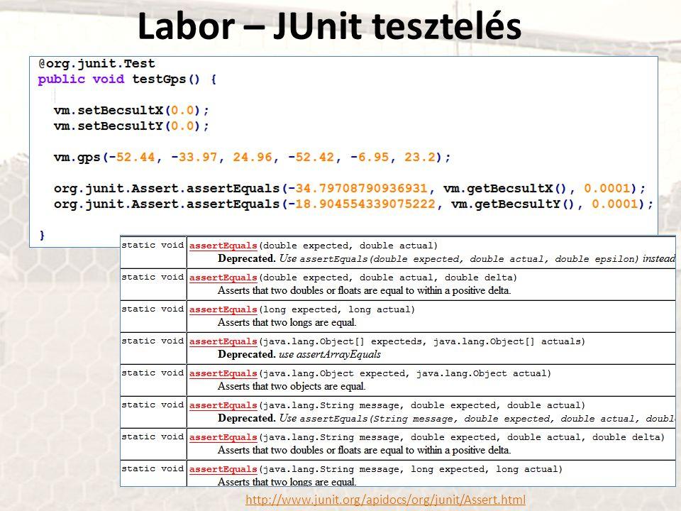 http://www.junit.org/apidocs/org/junit/Assert.html