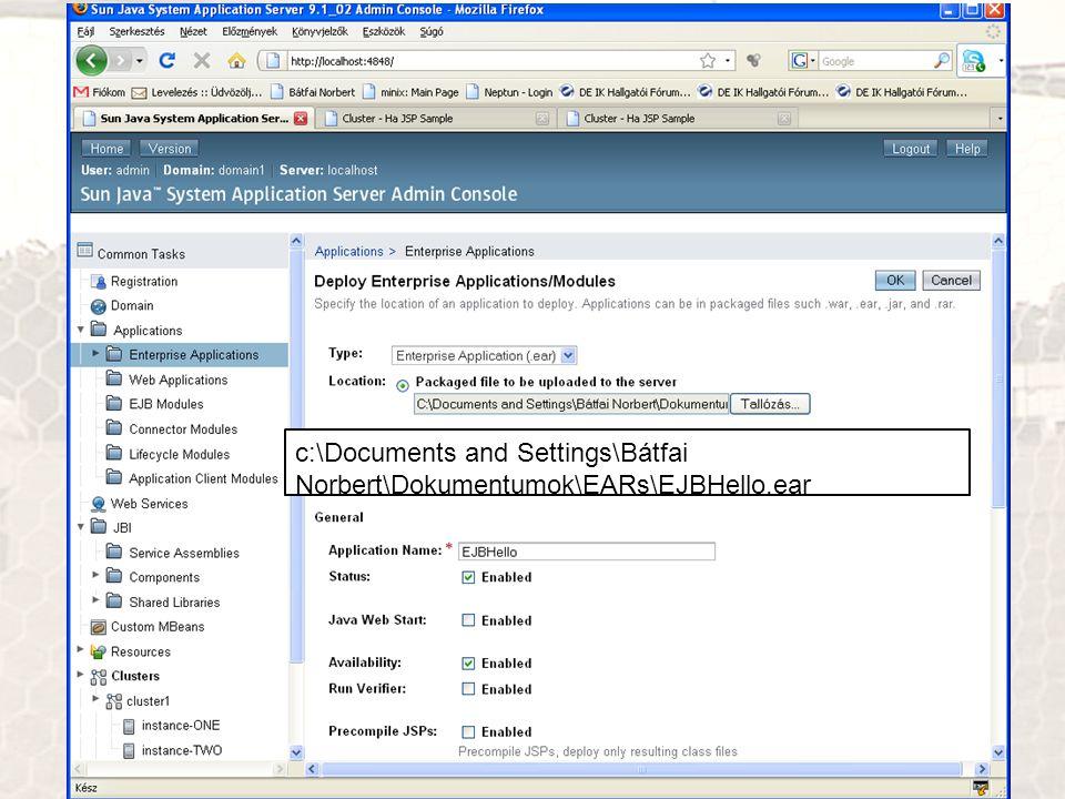 c:\Documents and Settings\Bátfai Norbert\Dokumentumok\EARs\EJBHello.ear
