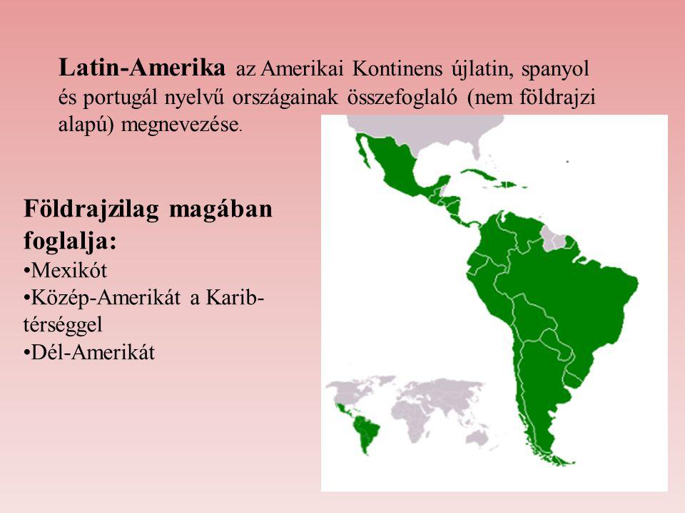 Latin-Amerika az Amerikai Kontinens újlatin, spanyol és portugál nyelvű országainak összefoglaló (nem földrajzi alapú) megnevezése. Földrajzilag magáb