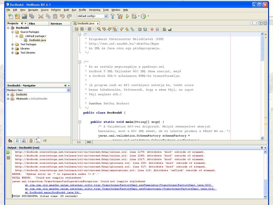 A NetBeans IDE használata