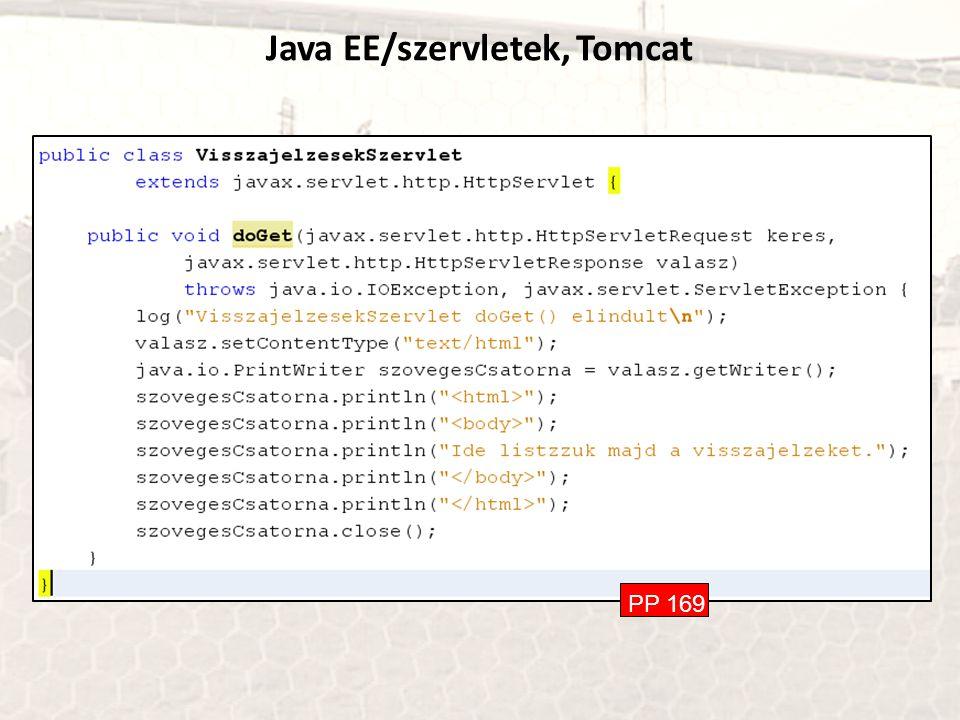 Java EE/szervletek, Tomcat PP 169