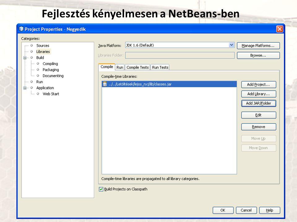 Fejlesztés kényelmesen a NetBeans-ben