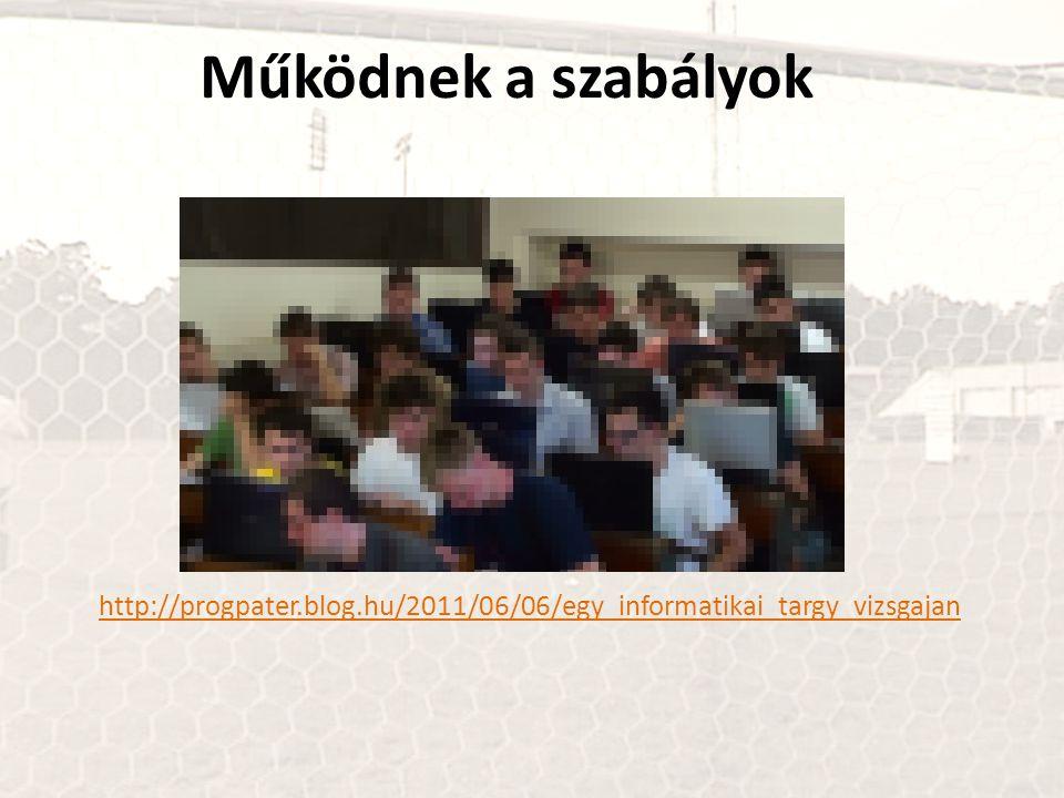 Működnek a szabályok http://progpater.blog.hu/2011/06/06/egy_informatikai_targy_vizsgajan