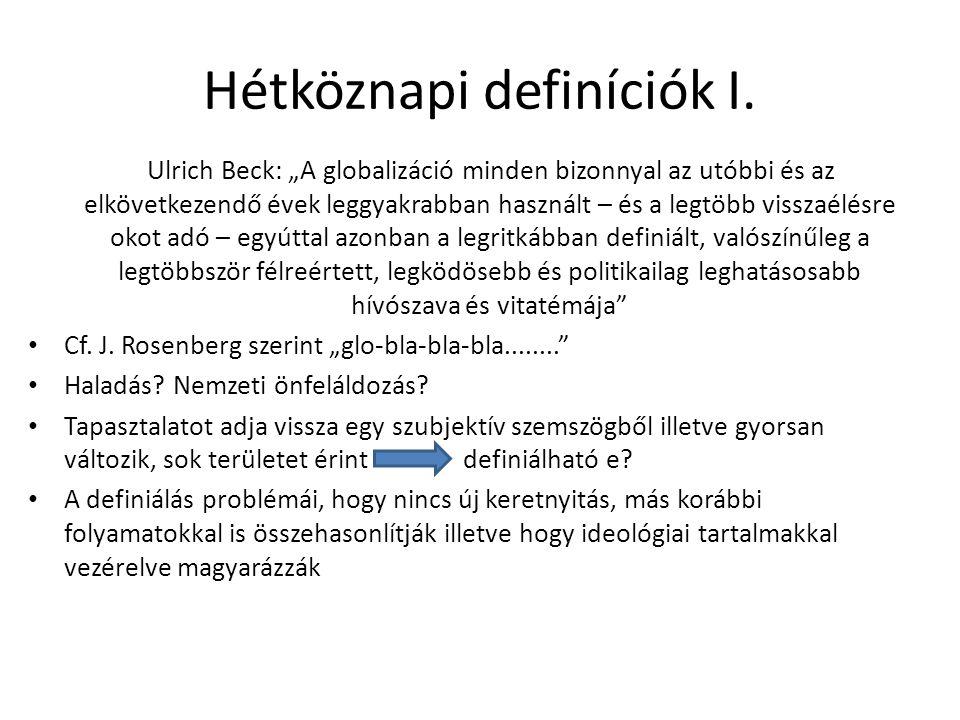 Hétköznapi definíciók II.