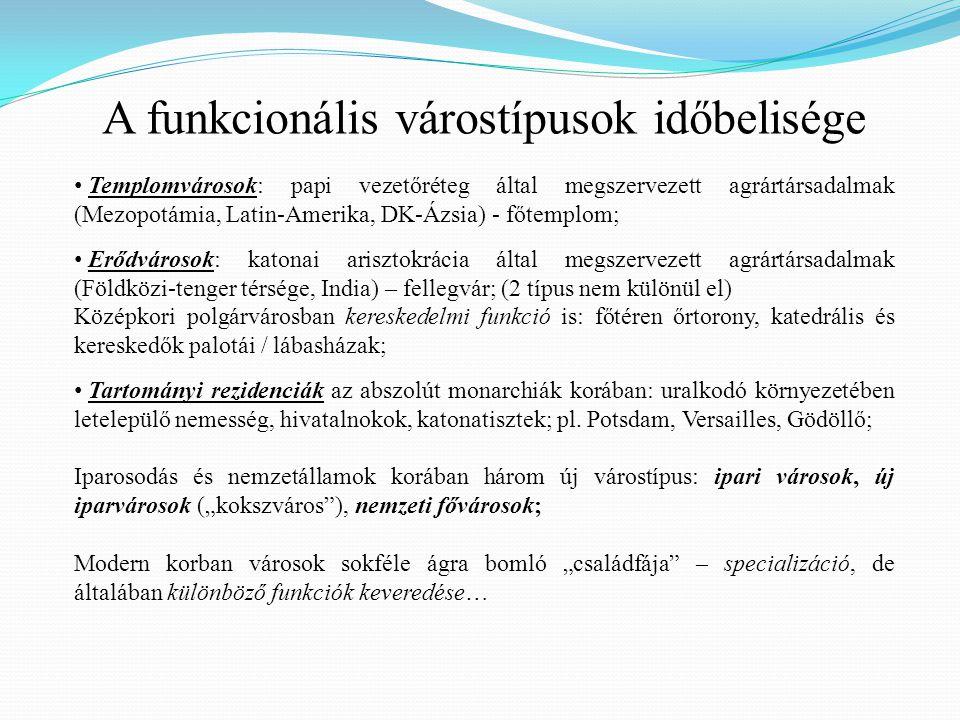  Védelmi szerepkör: garnizonvárosok (pl.