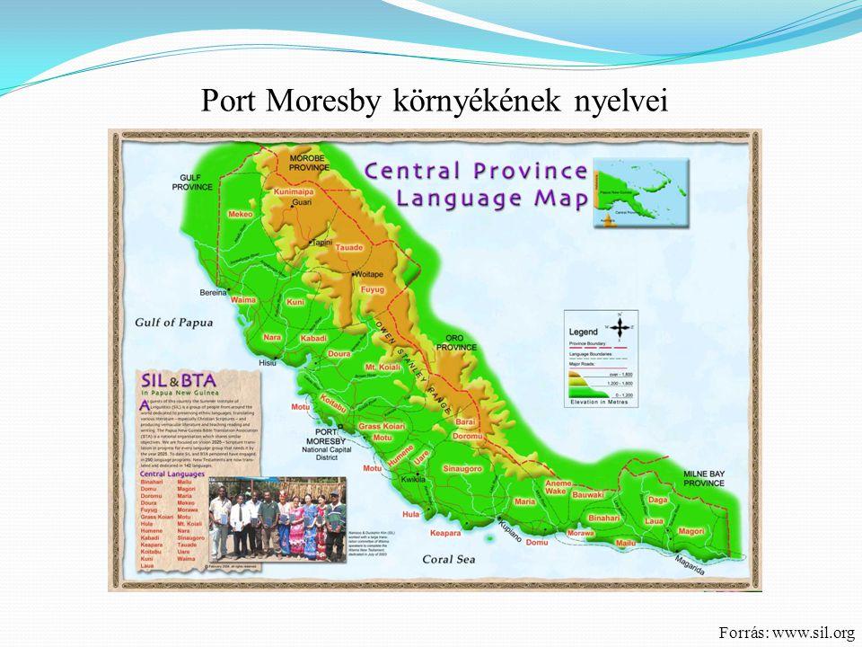 Forrás: www.sil.org Port Moresby környékének nyelvei