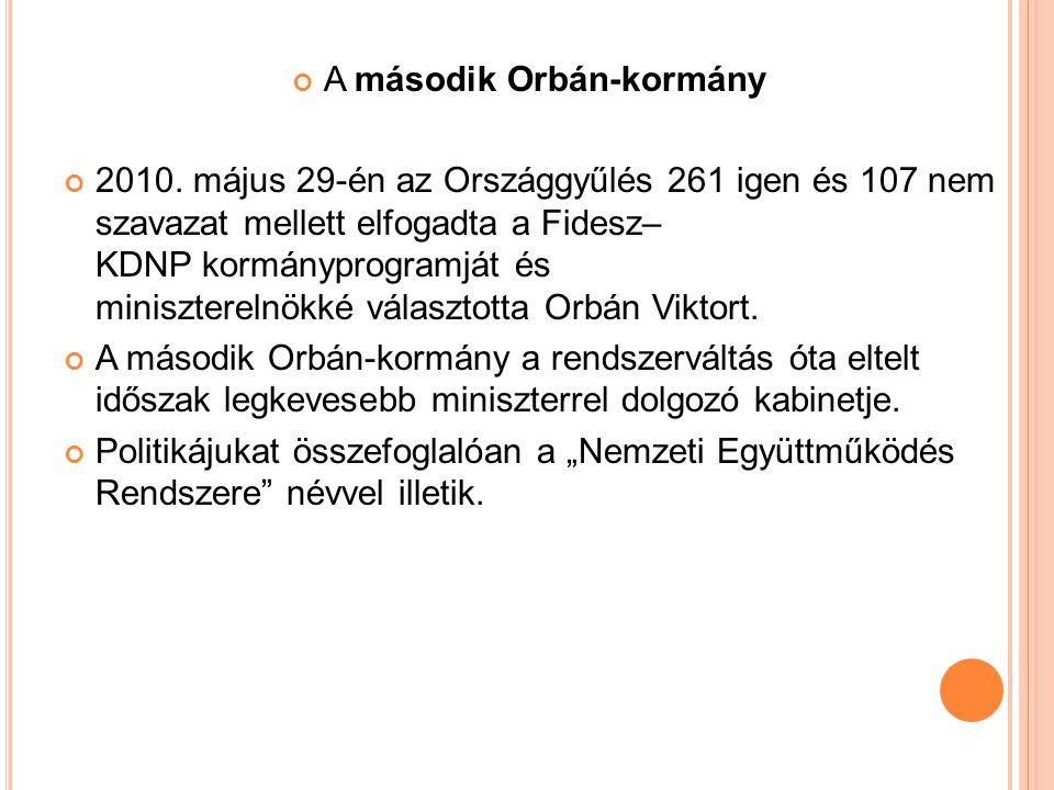 A második Orbán-kormány 2010.