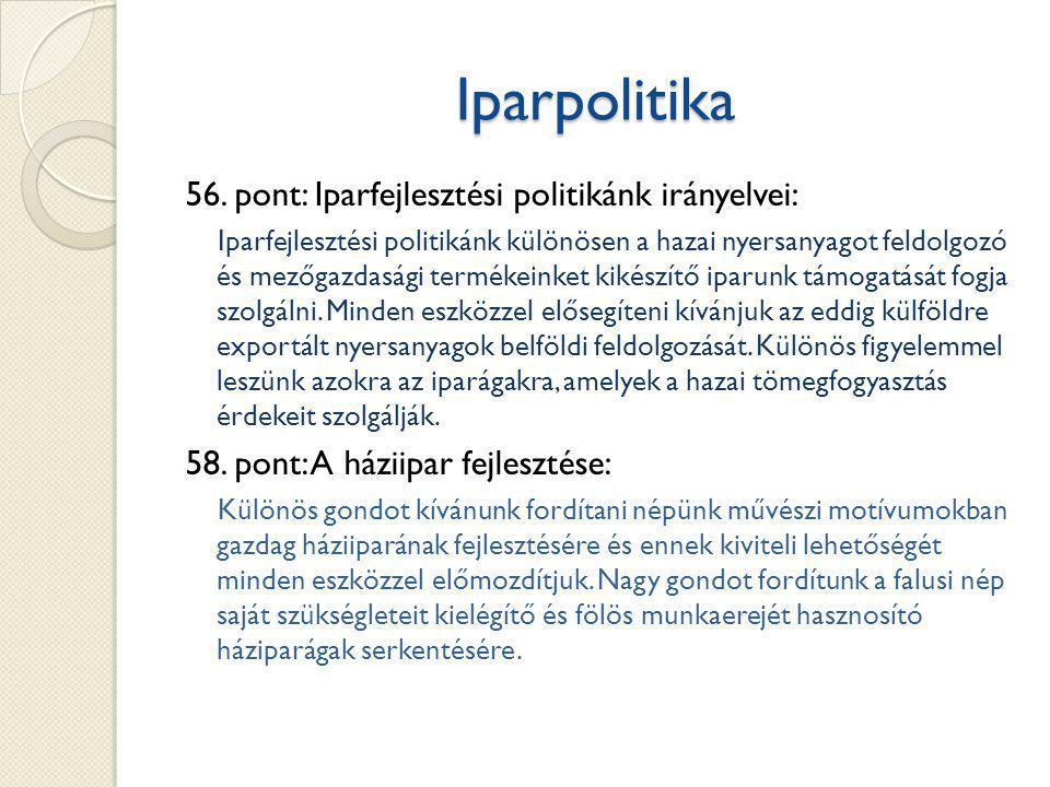 Iparpolitika 56.