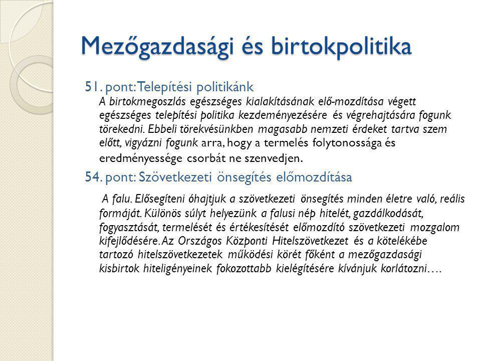 Mezőgazdasági és birtokpolitika 51.