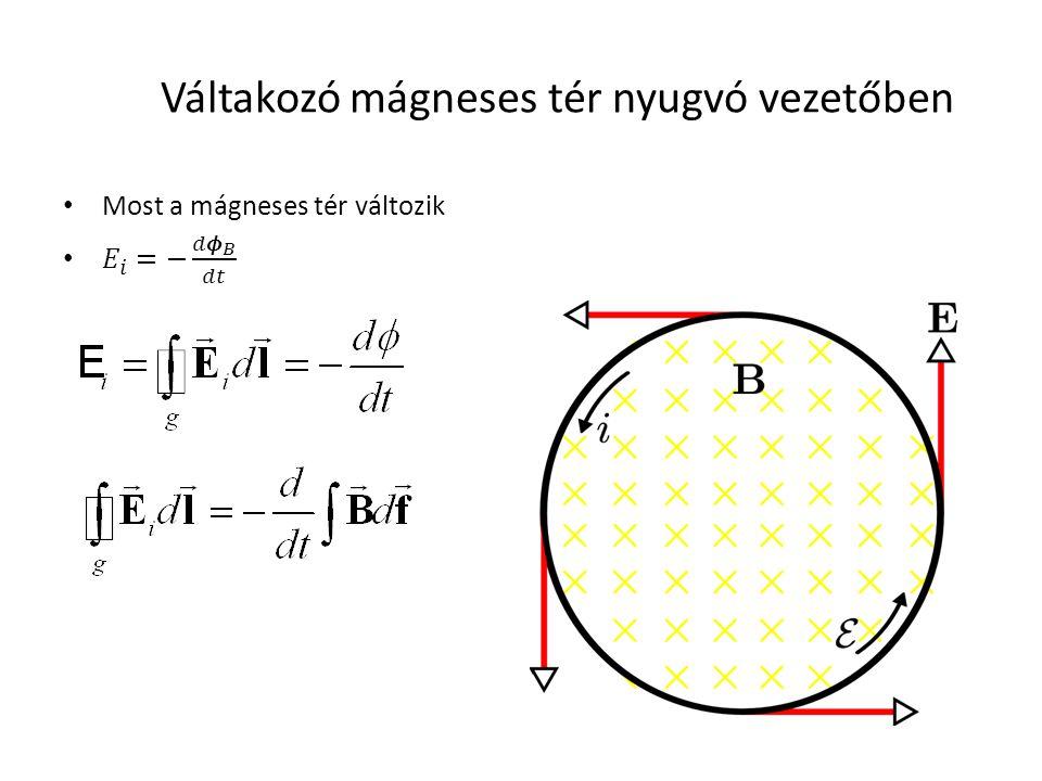 Váltakozó mágneses tér nyugvó vezetőben