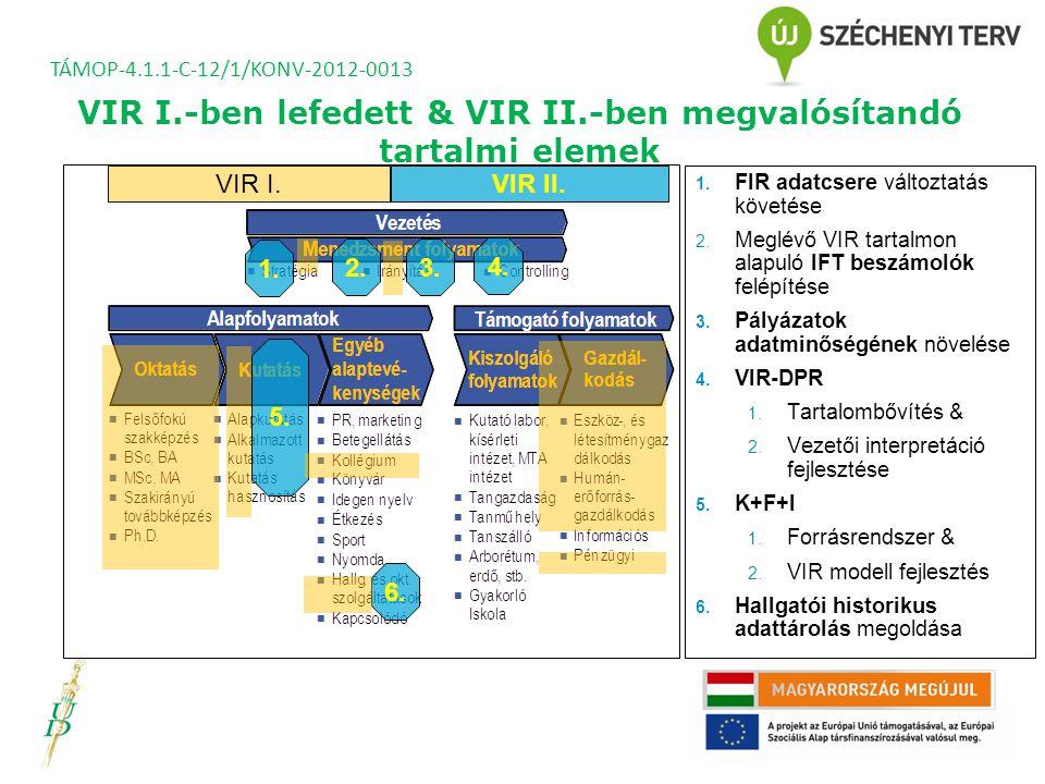 A törvény alapján az új FIR architektúrája TÁMOP-4.1.1-C-12/1/KONV-2012-0013