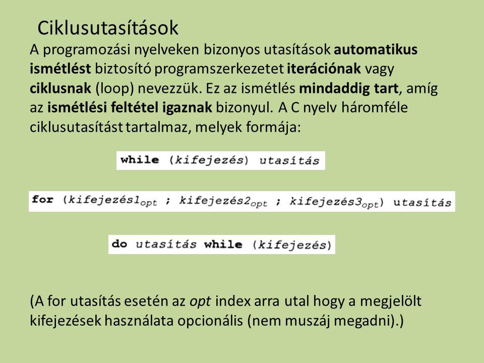 A programozási nyelveken bizonyos utasítások automatikus ismétlést biztosító programszerkezetet iterációnak vagy ciklusnak (loop) nevezzük. Ez az ismé
